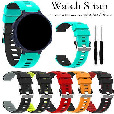 Silicone Watch Strap for Garmin Forerunner 235/235lite/220/230/620/630/735xt New
