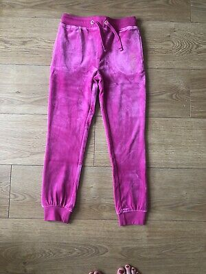New Juicy Couture Designer  Velour  Girls Joggers Tracksuit Bottoms Age 6-7