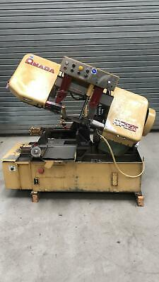 Amada Ha250 Horizontal Bandsaw With Roller Feed 3 Phase