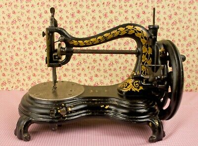 Antique Jones Swan Neck Serpentine Sewing Machine c.1890's  Full Working Order.