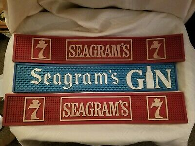 Vintage Rare Seagram's 7 and Seagram's GIN Bar Mat's