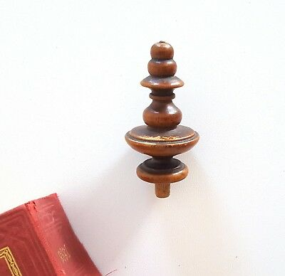 Antique wood newel post finial Wooden decoration Salvaged architectural 2.48""