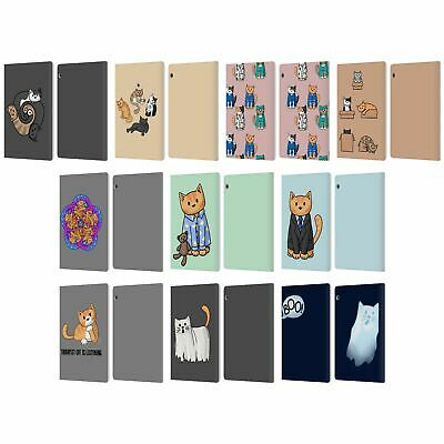 Official Beth Wilson Doodle Cats 2 Leather Book Case For Huawei Xiaomi Tablet