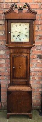 Antique Oak And Mahogany Longcase Grandfather Clock 30 Hour JAMES SHIPLEY DERBY
