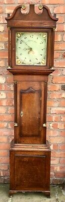 Antique Welsh Oak 30 Hour Longcase Grandfather Clock OWEN RICHARDS BALA