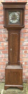 Small Oak Antique Grandfather Grandmother Longcase Clock 8 Day WEIGHT DRIVEN