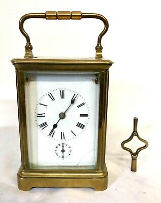 Antique Brass Carriage Clock with ALARM on a Gong