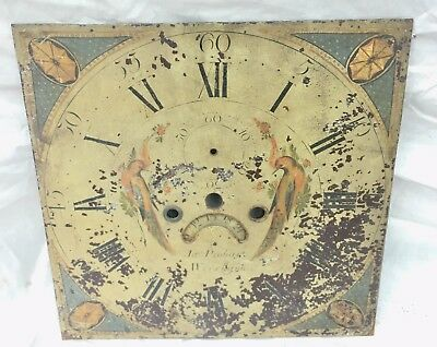 "Antique Longcase Grandfather Clock Dial h28 13""by13"" ja's probart Wrexham"