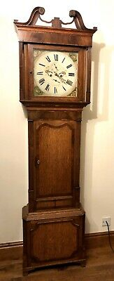 Antique Oak & Mahogany Longcase Grandfather Clock By Richardson Northwich