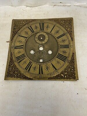 longcase grandfather clock Brass Dial James  Leigh Fecit