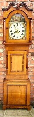 Antique Oak Mahogany Longcase Grandfather Clock Mattheus &sons Wigton