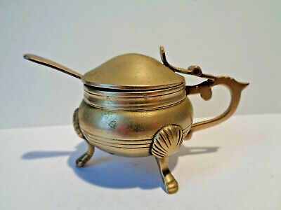 Antique Mustard Pot With Spoon EPNS