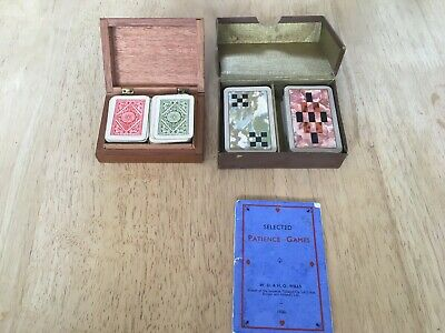 Vintage patience playing cards x 2