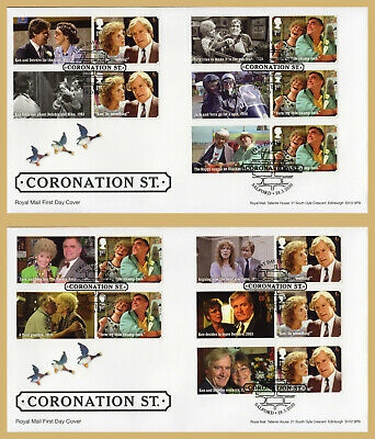 2020 Coronation Street Smilers *Set Of 2* Fdc First Day Covers