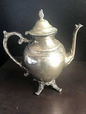 Vintage WM Rodgers Silverplate Footed Tea Pot