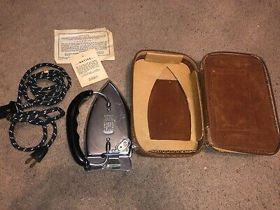 Vintage Durabilt Automatic Folding Travel Iron Cat 193 Winsted Hdw Mfg Co