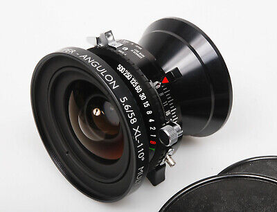 Schneider 58mm f/5.6 XL Super-Angulon 110-deg wide angle large format lens 5x4
