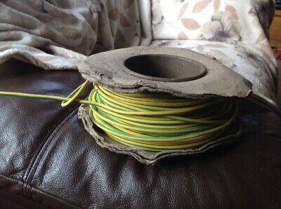 Approx 60-70m DRAKA 6491B 4mm Green and Yellow Cable On Roll BS7211 Unused