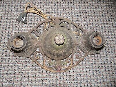 Virden Antique Flush Mount 2 Light Bulb Ceiling Fixture U.S.A. B 92