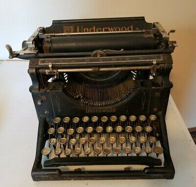 Vintage Underwood Standard Typewriter No. 5 1920's