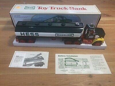 Vintage Hess 1984 Toy Truck Bank Gasoline Tanker Original Box In GREAT CONDITION