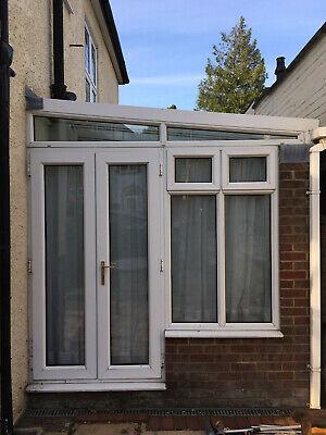 used conservatory white upvc buyer to dismantle and collect lean to style.