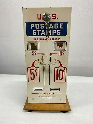 Vintage Stamp Vending Machine US Postage Stamp Machine Co w/2 keys 5 & 10 cent