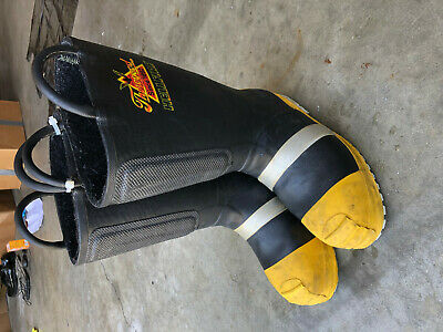 Turnout Boots Firefighter Thorogood Hellfire sz 9.5 Wide!