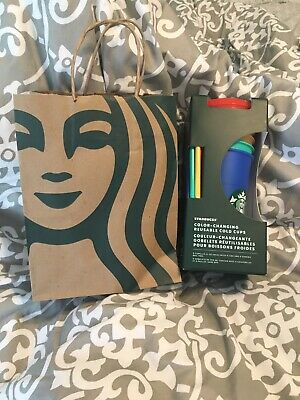 Starbucks 2020 Color Changing Cold Cups Pride Bling Tumbler  Confetti NWT Bag