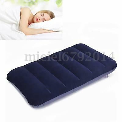 2 Pcs Travel Camping Air Inflatable Pillow Head Neck Rest Cushion Soft Blow