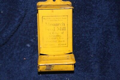 Antique Advertising Tin Match Safe Holder Osage, Iowa