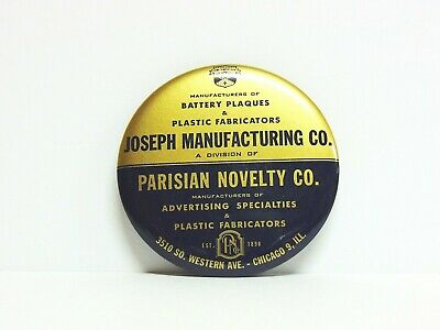 Celluloid Advertising Pocket Mirror / Paperweight Joseph Manufacturing Co.