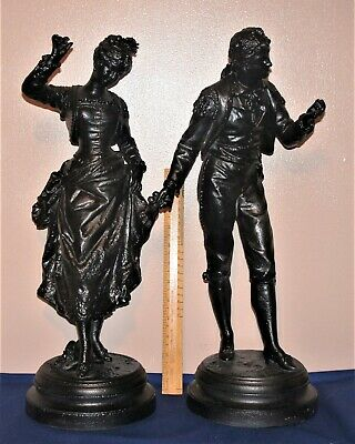 Pair of Spelter Figures  by RANCOULET~49cm Tall~