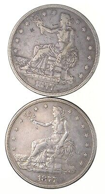 Lot (2) 1877 & 1877-S Seated Liberty Silver Trade Dollars *2754