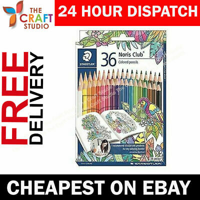 Big Set of 36 Staedtler Noris Club Coloured Colouring Pencils  144D36