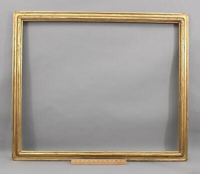 Antique NEWCOMB MACKLIN Carved & Gilt American Arts & Crafts Oil Painting Frame