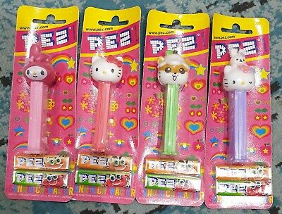 Pez Set Of 4 Hello Kitty  On Cards Retired