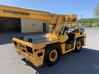 Broderson IC-80 9 Ton Dual Fuel Crane Carry Deck Low Hours