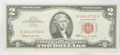 Crisp 1963-A Red Seal $2.00 United States Note - Better Grade *289