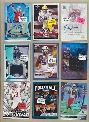 (150) NFL Huge Football Lot - JERSEY AUTO, LAMAR JACKSON, PATRICK MAHOMES RC ++