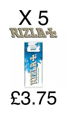 5 x Rizla Flavour Infusion MENTHOL FRESH MINT Cards Smoking NEW ONLY £3.75