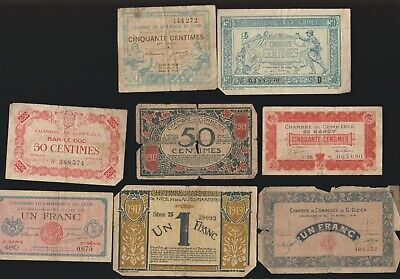 France, Lot of Pieces Notgeld, WWI Error