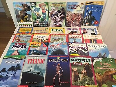 Lot of 25 Kids Books Level 2-4 I can Read DK Readers Scholastic Ready-to-Read