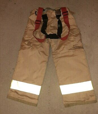 SECURITEX Official Turnout Bunker Gear Firefighter Pants Suspenders Size 34 x 28