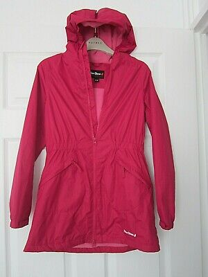 Girls Peter Storm Pink Waterproof Hooded Fleeced Rain Coat Jacket  11-12 Yrs