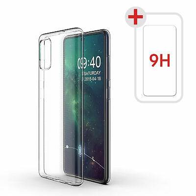 Samsung Galaxy A51 | A71 | A40 Hülle Silikon Handy Schutz Cover Case + 9H GLASS
