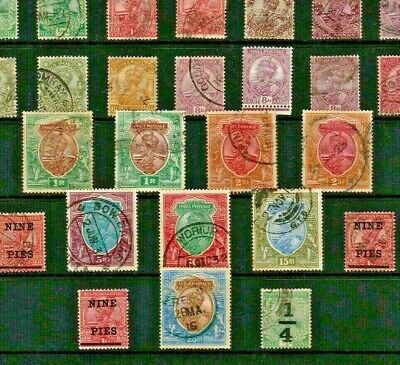 INDIA Stamp COLLECTION c1902-1922c Edw VII to Geo V inclu HIGH VALUES Ref:QT110a