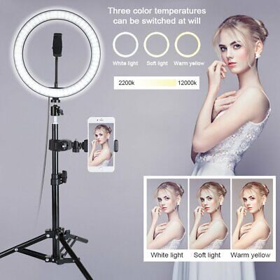 """New 10"""" LED Ring Light Camera Lamp+Tripod Stand Phone Holder For Video Live"""