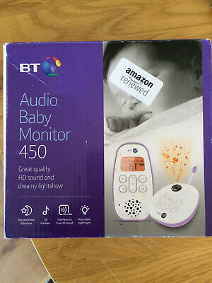 BT Audio Baby Monitor 450 with Lightshow, LCD display, good USED condition