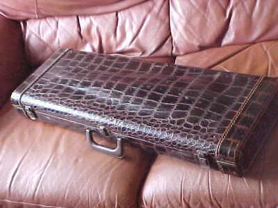 RARE 1930's LIFTON NEW YORK ALLIGATOR VIOLIN CASE with FRENCH FITTED INTERIOR